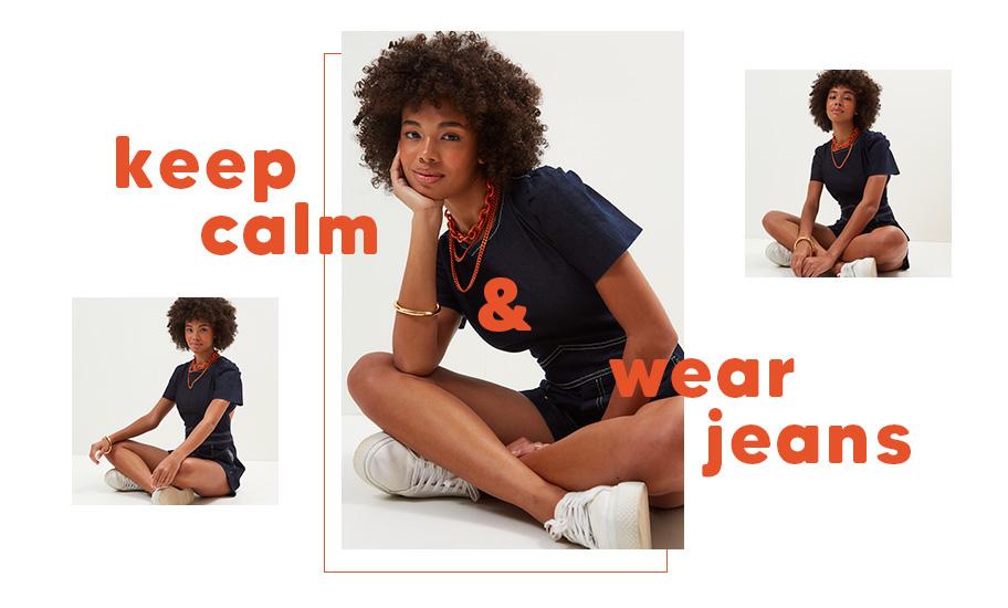 keep calm jeans